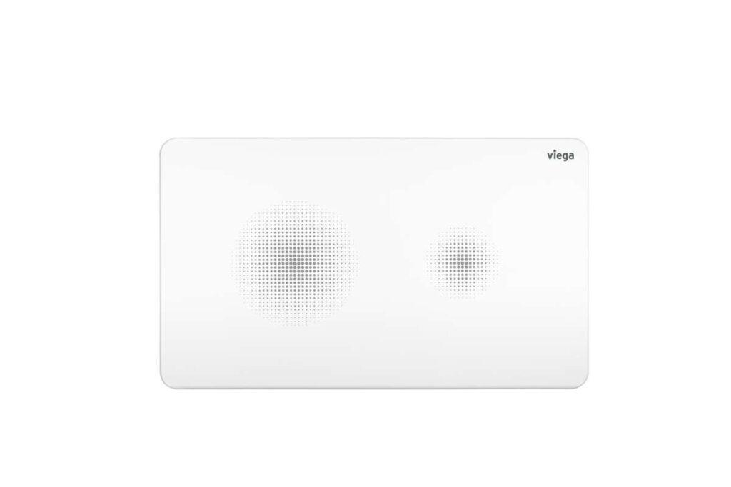 Innowacyjny design przycisku Visign for Style 25 sensitive od razu sygnalizuje sposób jego działania. Pola w formie pikselowych chmurek w czytelny sposób informują o bezdotykowym działaniu.