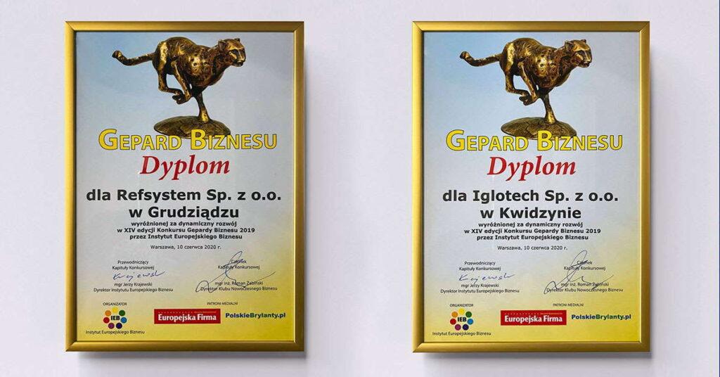 gepard biznesu 2019 refsystem i iglotech 1024x536 - Dwa Gepardy w rękach Grupy Iglotech