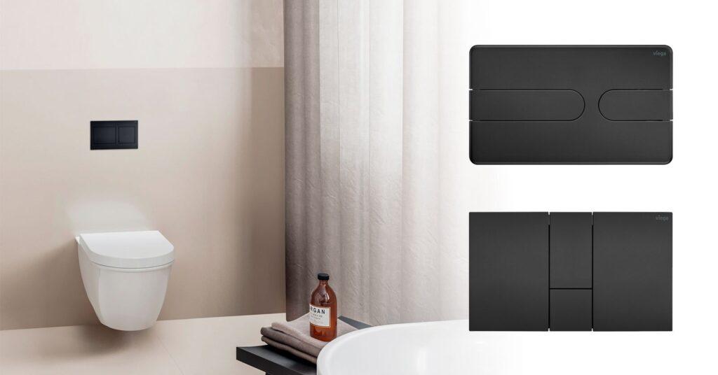 przyciski uruchamiajace do wc w stylowej matowej czerni nowa odslona serii viega visign for style 1024x536 - Przyciski uruchamiające do WC w stylowej matowej czerni - nowa odsłona serii Viega Visign for Style