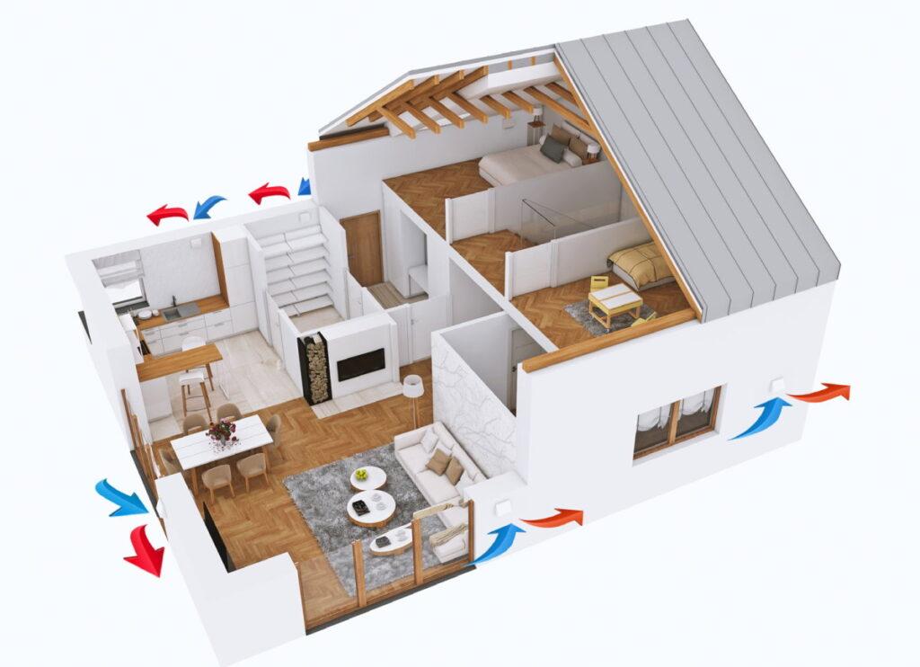 rekuperacja w starym domu rozwiazanie dla budynkow w trakcie termomodernizacji 1024x742 - Rekuperacja w starym domu? Rozwiązanie dla budynków w trakcie termomodernizacji.